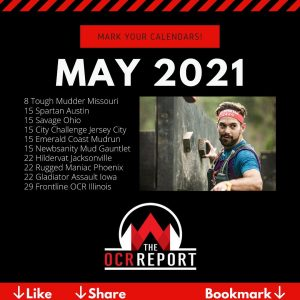 OCR Events Calendar May 2021